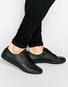 NEW - Fred Perry - Kingston Leather Sneakers - Black - RRP $150.00