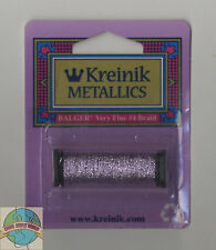 Kreinik Metallic Thread - 12Yd Spool of #023 Lilac VF #4 Braid