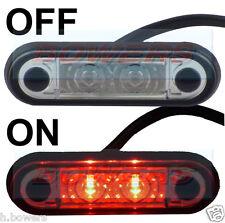 12V/24V FLUSH FIT SLIM RED LED MARKER LAMP LIGHT TRUCK VAN KELSA BAR AS HELLA