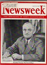 1945 Newsweek May 28-Himmler's sob story; Stolen art treasures turning up;Fuhrer