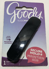 Goody Slide Proof Black Barrette 063041411 Hair Clip