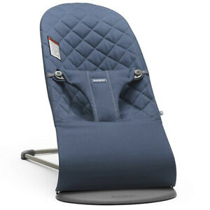 BabyBjorn Bouncer Bliss Midnight Blue Cotton Adjustable New In Box Msrp $249