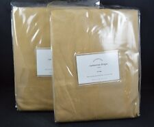 """Pottery Barn Cameron Drapes Curtains Panels Straw Tie Top 84"""" S/ 2 #43"""