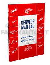 1946-1965 Jeep CJ Repair Shop Manual 2A 3A 3B 5 5A 6 CJ2A CJ3A CJ3B CJ5 CJ5A CJ6