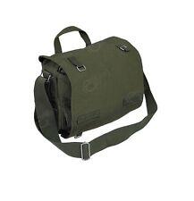 Olive Military Style COMBAT BAG Cotton Canvas Shoulder Bag Student Book Bag
