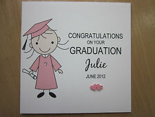Personalised Handmade Female Congratulations on Your Graduation Card