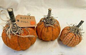 Pumpkins/Fall/Bowl Fillers/Set of 3/Farmhouse/