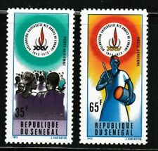 Declaration of Human Rights 25th anniversary mnh 2 stamps 1973 Senegal #C126-7
