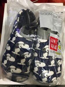 KAWS Uniqlo XX Snoopy Navy House shoes slippers USA Man Size 6 Women  Size 7