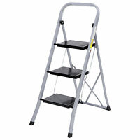 Non Slip 3 Steps Ladder Stool Folding Ladder Safety Tread Kitchen Home Use 300lb