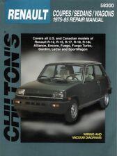 1975-1985 Renault R12 R15 R17 Chilton Repair Service Workshop Manual Book 0793