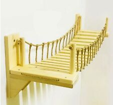 Cat Wall Roped Bridge Climbing Post Tree House Scratching Wooden Kitten Toy Bed
