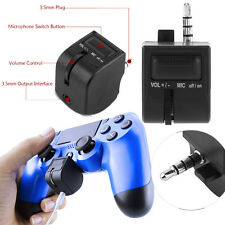 Controller Headphone Headset Earphones Mic Adapter For Sony PlayStation PS4 WY