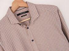 rp2383 TIGER OF SWEDEN Camisa Top Ajustado Vintage Check ORIGINAL PREMIUM TALLA