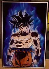 "Dragon Ball Super Goku Poster ""New Transformation"" ""Ultra instinct"" 17x11 inches"
