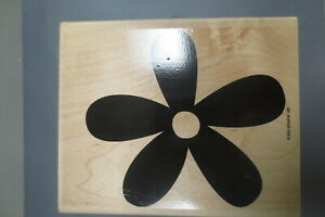 Stampin' Up 5 Petal Daisy Blossom Rubber Mounted Stamp XL 5X5 NEW