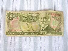 Cincuenta Colones 50 7 de julio de 1993 Banco Central De Costa Rica Serie E Bill