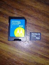 SanDisk 512 MB MicroSD Memory Card W/ Adapter