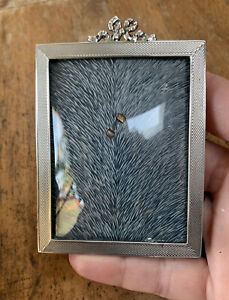 Original, Rare, 1950s, Solid Sterling Silver, Bow Glass Fronted Picture Frame.
