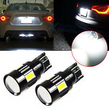 2x Projector Lens 194 168 2825 T10 6000K LED Bulbs Dome Map License Plate Lights
