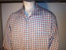 NEW Jos. A. Bank 4XT Pastel Checks Linen Camp Shirt