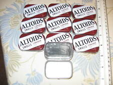 10 Mini Altoid Smooth Metal Tin Empty Storage Container Craft Gift Art Survival