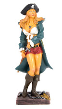 """SWASHBUCKLING LADY PIRATE 10"""" Tall resin Figurine"""