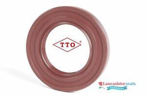 TTO Oil Seal 12x28x7mm Viton Rubber Single Lip R21 SC Stainless Steel Spring FKM