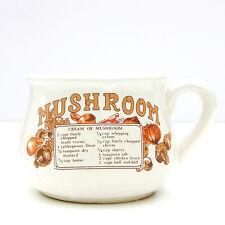 Vintage Retro Soup Mug Mushroom Soup Recipe