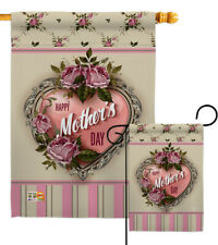 Rose Mother Day Garden Flag Love Mom Wife Floral Summer House Gift Yard Banner