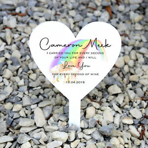 Personalised Baby Loss Memorial Plaque, Grave Marker, Miscarriage Angel Baby
