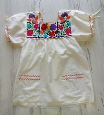 Vintage handmade top Women's XS? hippie boho embroidered flowers peasant 60's