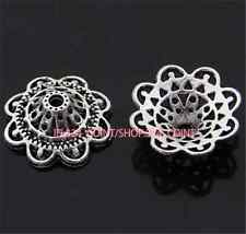 P965 12pc Tibetan Silver Charm Lotus Flower Bead Caps Accessories Wholesale