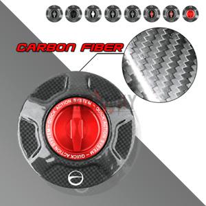 Flat CARBON FIBER Fuel Tank Gas Cover Caps for BMW R1200GS Adventure R1200R/S