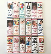 80 Personalised Birthday Chocolate Bar Wrappers  Favours, Gifts Posted 1st Class