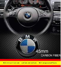 EMBLEMA LOGO INSIGNIA FIBRA DE CARBONO AZUL VOLANTE BMW DE 45 MM DESDE ESPAÑA.