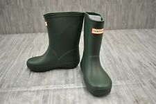 **Hunter First Classic Rain Boot, Toddler Girls Size 10 / Boys Size 9, Green NEW
