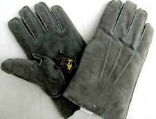 GENUINE SUEDE LEATHER..GRAY..FLEECE LINED..MEN'S GLOVES..sz XL..NEW TAGS
