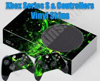 Choose Any 1 Skin Design for Xbox Series S Console + 2 Controllers - Free Ship!