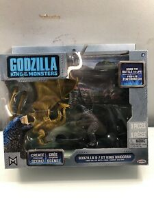 JAKKS GODZILLA KING OF THE MONSTERS & KING GHIDORAH Toy Figure Set 2019 Kids