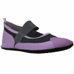 Women's Flat Mary Jane Water Yoga Sports Lightweight mesh Shoes Purple
