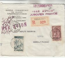 Morocco Registered Airmail Cover