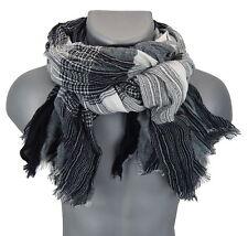 Bufanda hombre Gris Negro Blanco De Ella Jonte Bufanda otoño invierno suave