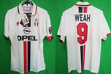 1996-1997 AC Milan ACM Soccer Jersey Shirt Maglia Away Opel Lotto Weah #9 XL NWT