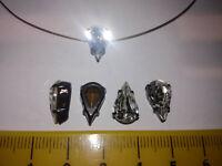 20 x eingefasste Preciosa Pearshape Tropfen Crystal 13x8 Glitzersteine einfädeln
