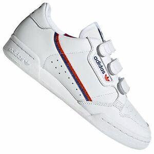 adidas Originals Continental 80 Strap Damen Sneaker EE5577 Turnschuhe Weiß Klett