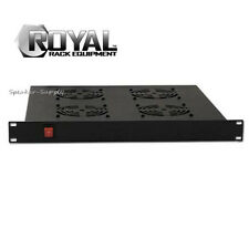 Royal Racks 1U w/ 4 Cooling Fans Rack Mountable AV Rack Mount Black Fan ROY1246