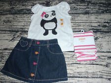 Gymboree Panda Academy 2T Striped Leggings Shirt Skirt Outfit NWT