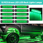 10 Green Led Rock Lights For Jeep Offroad Car Truck Atv Boat Underbody Light Eol