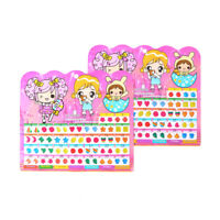 1Sheet Colorful Kid Crystal Stick Earring Sticker Jewellery Party Toy Gift、New